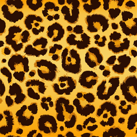 Seamless leopard pattern. Vector. 矢量图像