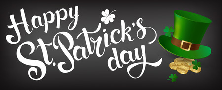 Fijne St Patrick's Day. Vector.