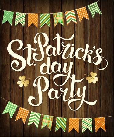 midget: Happy St. Patricks Day Party. Vector.