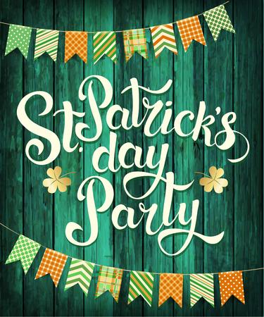 Gelukkige St. Patrick's Day Party. Vector.