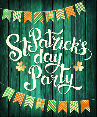 Happy St. Patricks Day Party. Vector.