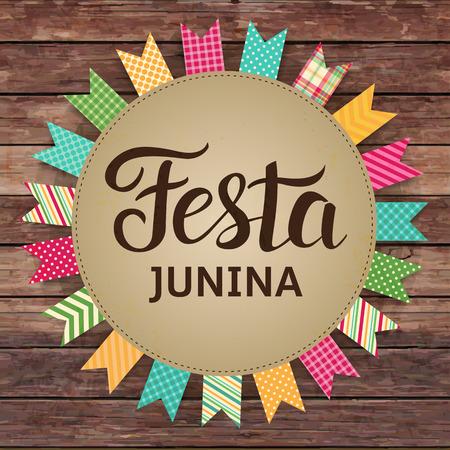 Festa Junina illustration - traditional Brazil June festival party. Vector illustration. Latin American holiday.
