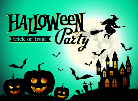 halloween party: halloween party poster Illustration