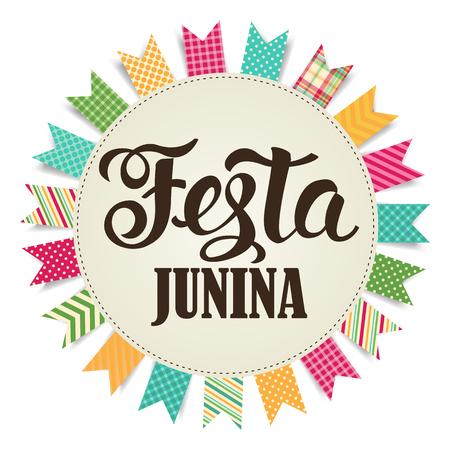 Ilustración Festa Junina. vector de la bandera. vacaciones de América Latina. Foto de archivo - 74791453