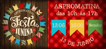 Festa Junina illustration traditional Brazil June festival party. Vector illustration. Illustration