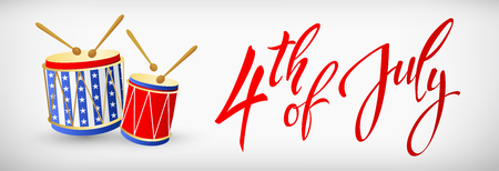 4th July - Independence day of United States of America Illustration