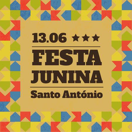 Festa Junina illustration - traditional Brazil June festival party. Vector illustration. Latin American holiday. Stock Vector - 80186954