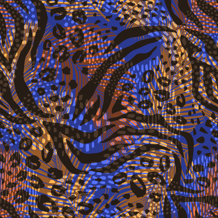 Abstract geometric pattern with animal print