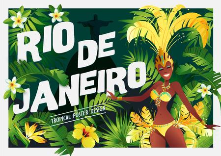 Rio de Janeiro banner. Illustration
