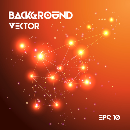 Vector Abstract background with lights and lines effect