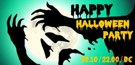Illustrazione di vettore di progettazione del manifesto del partito di Halloween. Archivio Fotografico - 90853139