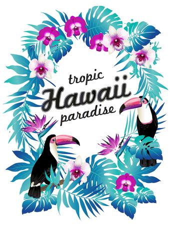Hawaiian party poster Vector illustration 向量圖像