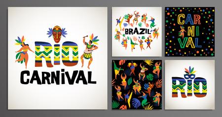 Brazil carnival. Vector templates for carnival concept. Stock fotó