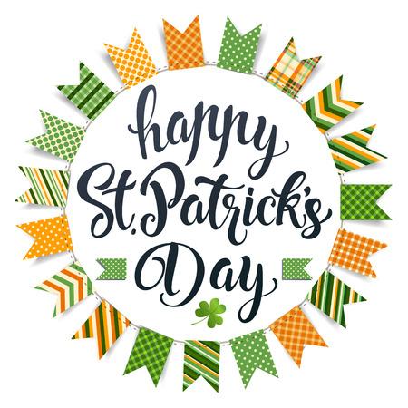 St. Patricks Day vintage holiday emblem design. Vector illustration.
