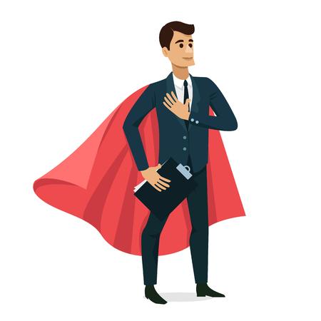 Set van zakenman blij karakter ontwerp. Vector illustratie Stock Illustratie