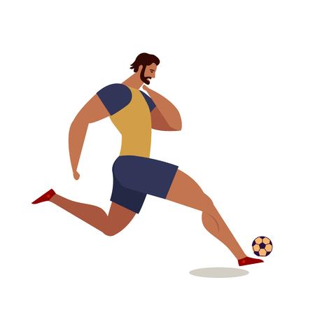 Soccer players. Football. Flat vector illustration. Design element. Illustration