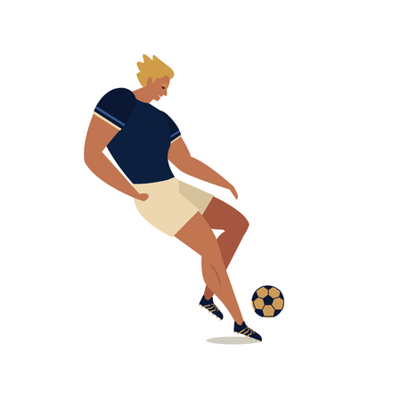 Soccer players im cartoon illustration in white background. 向量圖像
