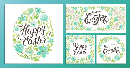 Happy Easter Vector templates card, poster, flyer and other users.