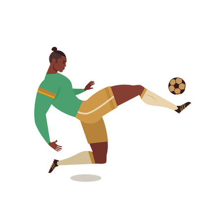 Football soccer player of isolated character of teammates referee and competition trophy vector illustration