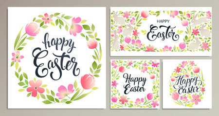 Happy Easter. Vector templates for card, poster, flyer and other users. Illustration