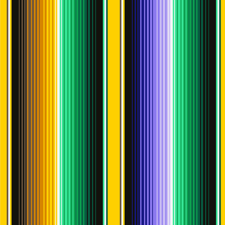 Mexican Blanket Stripes Seamless Vector Pattern. Background for Cinco de Mayo Party Decor or Mexican Food Restaurant Menu. Stock Illustratie