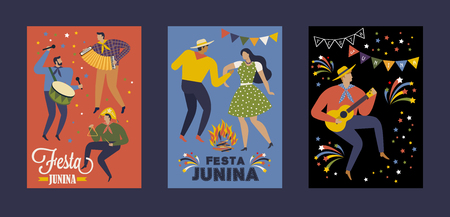 Festa Junina Brazil June Festival. Vector templates. Design element for card, poster, banner and other use. Banque d'images - 100847222