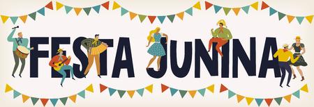 Festa Junina Brazil June Festival. Vector templates. Design element for card, poster, banner, and other use. Banque d'images - 101820946