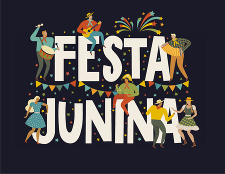 Festa Junina Festival. Design element for card, poster, banner, and other use. Banque d'images - 101832046