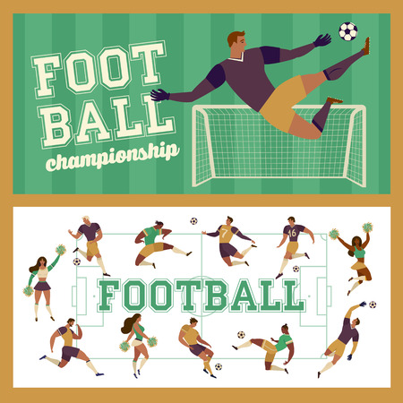 Template of ticket for football. Vector illustration of Football Championship soccer sports background.