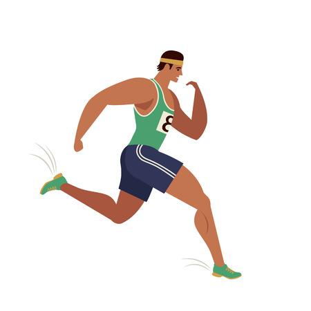 Jogging person. Runner in motion. Running men sports background. People runner race, training marathon, jogging and running illustration. Фото со стока - 133672544