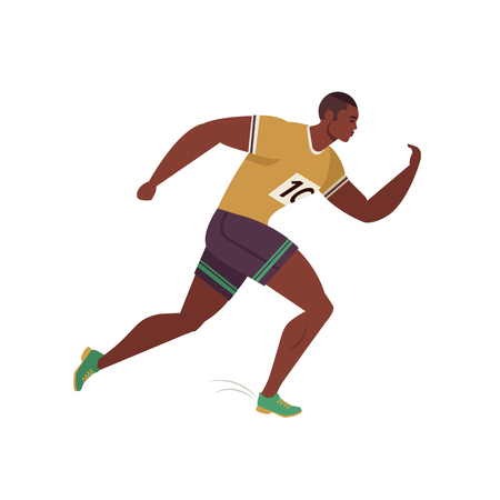 Jogging person. Runner motion. Running men sports background. People runner race, training to marathon, jogging and running illustration. Ilustrace