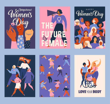 International Womens Day. Vector templates for card, poster, flyer and other users. Banque d'images - 118804020