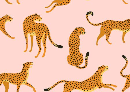 Abstract leopard pattern. Vector seamless texture. Trendy Illustration