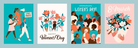 International Womens Day. Vector templates for card, poster, flyer and other users.