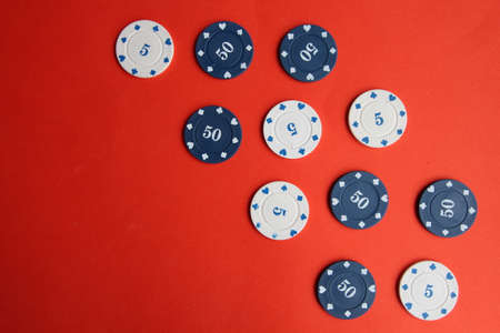 poker cards, pocker chips, money pocker dice Imagens