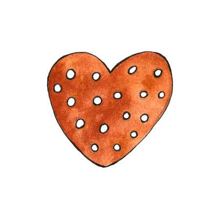 Seamless pattern of cute watercolor gingerbread. Christmas gingerbread cookies. Christmas decorations.