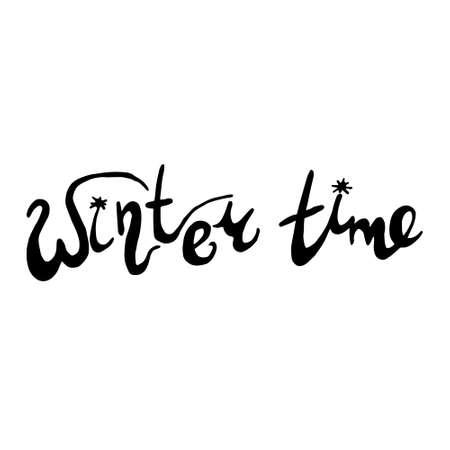 hand drawn Happy New Year font. Vector illustration