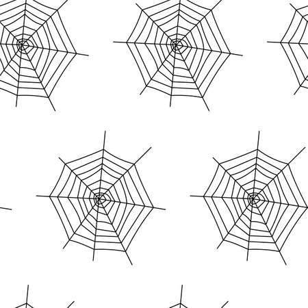 Seamless pattern with halloween pumpkins spider web zombie. Can be used for scrapbook digital paper, textile print, page fill. Vector