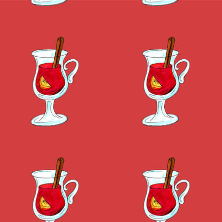 Watercolor illustration of a cup of hot cocoa. Christmas cozy drink 写真素材 - 129776172