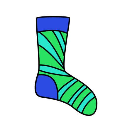 winter holidays socks. bright colorful set. New year, christmas