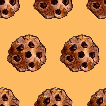 Set of sweets: donut, cake, cookies, etc. Watercolor illustration Фото со стока - 131487291