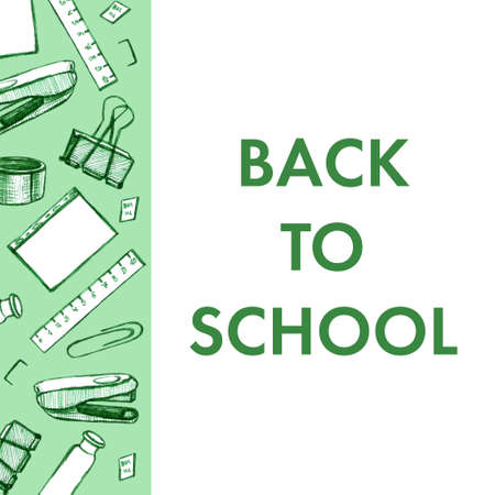 Back to school - pen sketch background. Can be used for wallpaper, pattern fills, textile, web page background, surface textures. Standard-Bild - 133281383