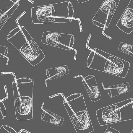 a glass of water hand drawn Standard-Bild - 133637333