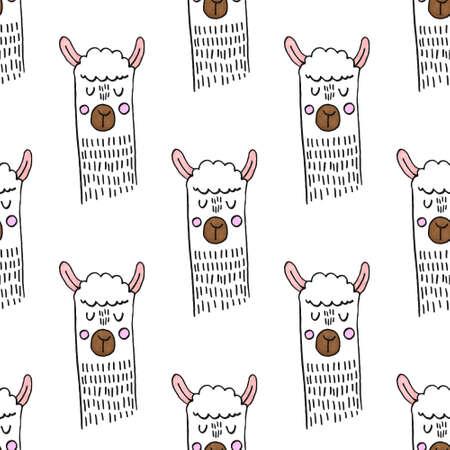 smiling hand drawn abstract sheep Standard-Bild - 133637528