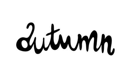 Hand drawn vector inscription. Autumn text isolated on white background. Template for banner, poster or print. Autumn lettering collection 일러스트