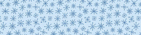Snowflake simple doodle pattern. Hand drawn snow element isolated on white background. Winter season, Christmas celebration
