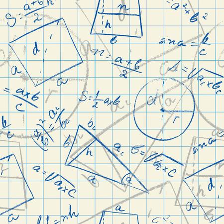 Mathematical seamless pattern.