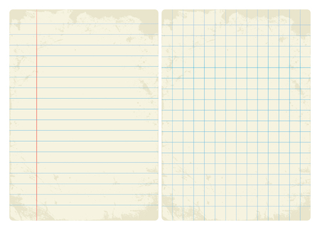 lined: Lined & Graph vintage paper set