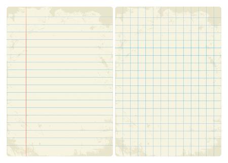 Lined & Graph vintage paper set