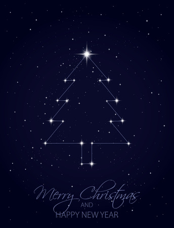 north star: Merry Christmas and Happy New Year Illustration